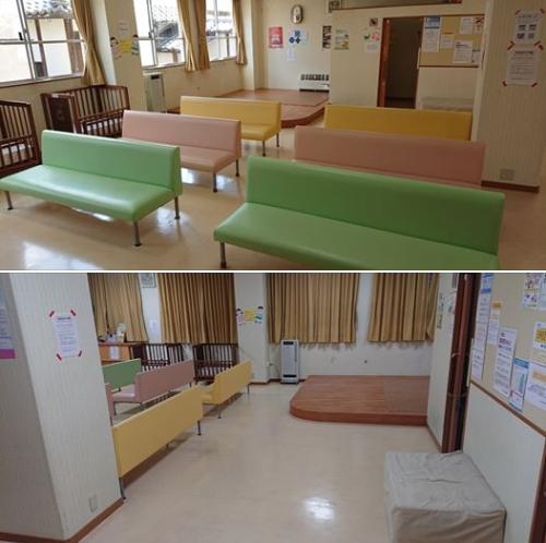 西藤小児科の広い待合室